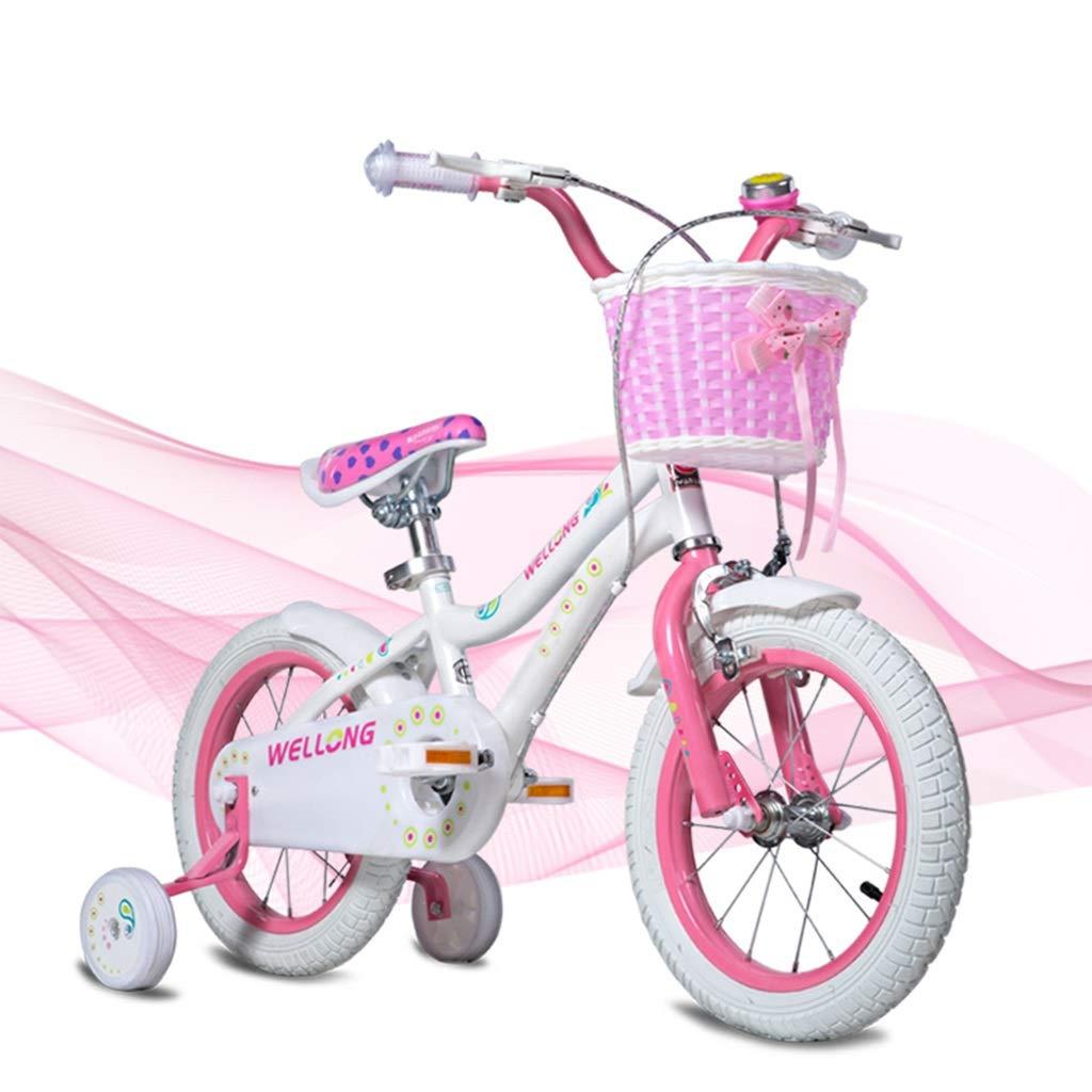 ガールズ自転車ピンクのバイク写真ピンクのバイク子供の自転車12,14インチ自転車アウトドアスポーツバイク女の子への最高の贈り物 (Color : Pink, Size : 14inches) 14inches Pink B07S87XG8K