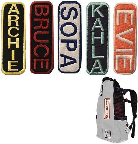 K9 Sport Sack Custom Velcro Patch Dog Tag for K9 Dog Carrier Backpacks