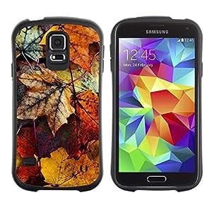 """Hypernova Slim Fit Dual Barniz Protector Caso Case Funda Para Samsung Galaxy S5 [En oro amarillo de la caída del otoño Naturaleza""""]"""