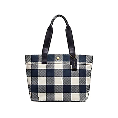 b9f51d742a Amazon.com: COACH TOTE WITH BUFFALO PLAID PRINT, F25919, MIDNIGHT: Shoes