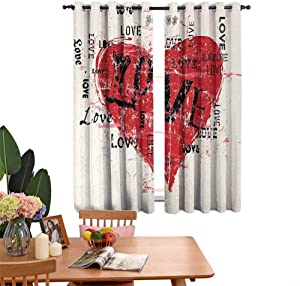 DRAGON VINES Blackout Curtains for Living Room- Decorative Curtains for Living Room Expression of Powerful Emotions Vintage Inspirations Marriage Engagement Home Bedroom Wall Decorations W55 x L62