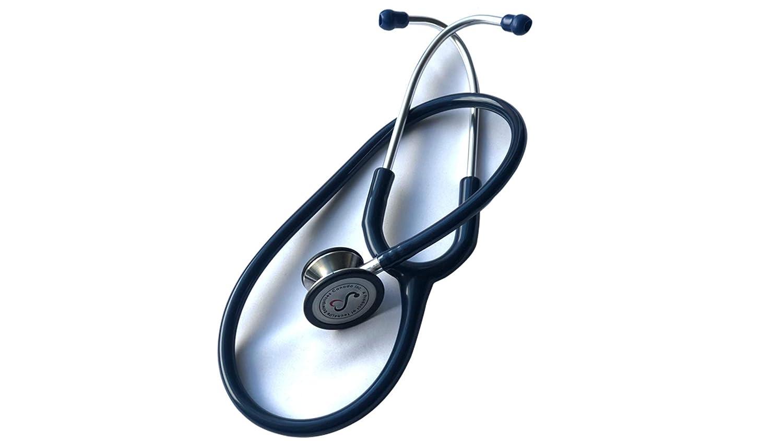 eSteth CLÁSICO – Estetoscopio para Doble Cabeza, Calidad Cardíaca con Acabado de Acero Inoxidable y Anillo no Hay Goma Fría – 32 Pulgadas (azul)