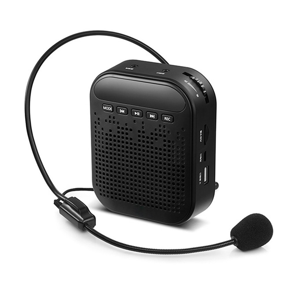 KepooMan Voice Amplifier,Portable Microphone With Waist/Neck Band & Belt Clip,MP3 Player/Recorder & FM Radio, Rechargeable Batteries