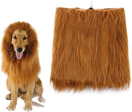Rhww LeóN Melena Pelo Peluca para Perro, Ajustable LeóN Peluca para Festividad De Todos Los Santos Navidad Partido: Amazon.es: Hogar