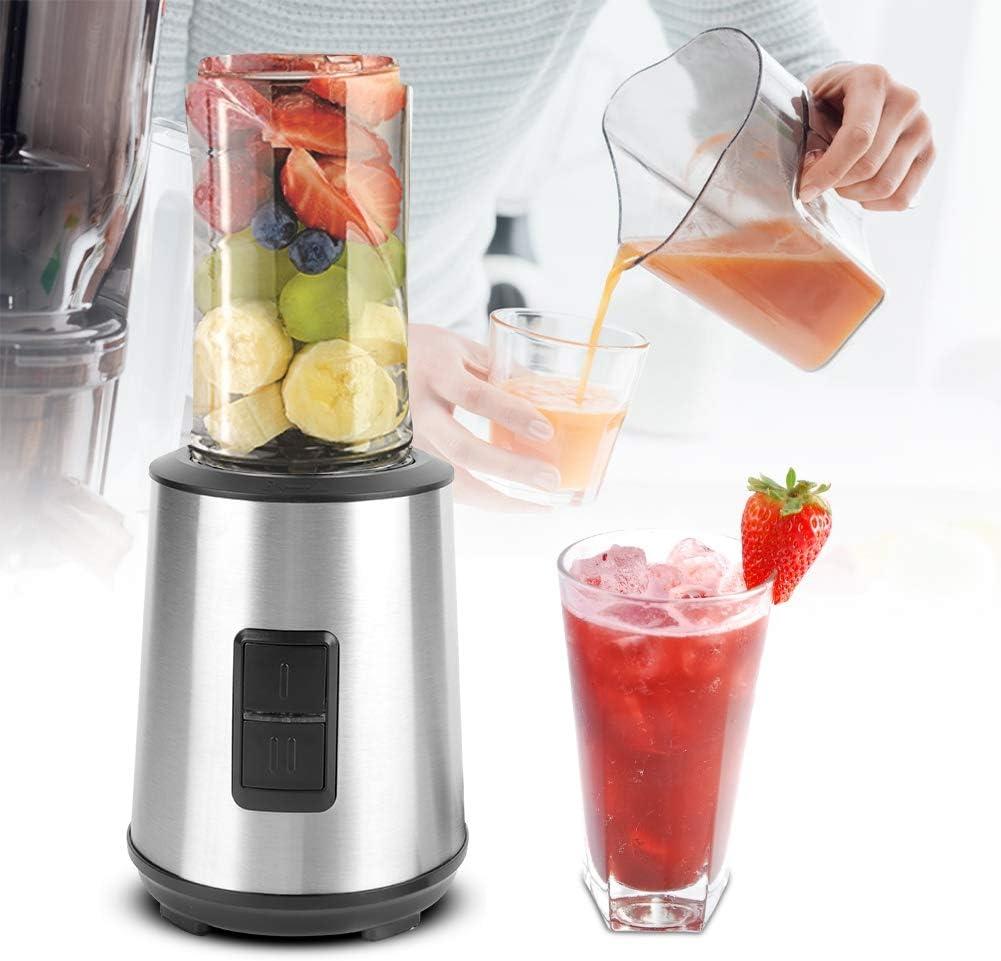 Exprimidor eléctrico portátil, mezclador mezclador portátil multipropósito Exprimidor Exprimidor extractor de jugo de fruta Exprimidor personal - Haga que la vida sea saludable y colorida(UE, 220V)