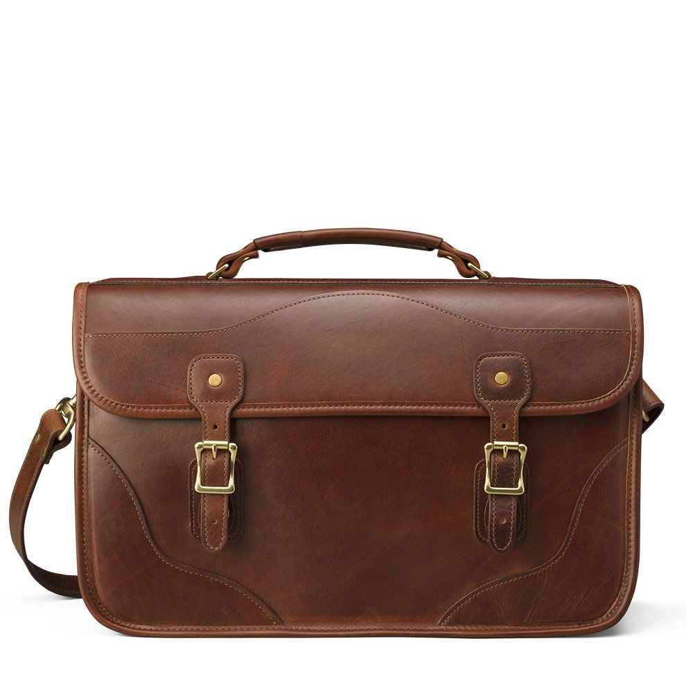J.W.HULME アメリカ製 レザーブリーフケース LARGE DOCUMENT BRIEFCASE  BROWN/ブラウン B00V0B4KRC
