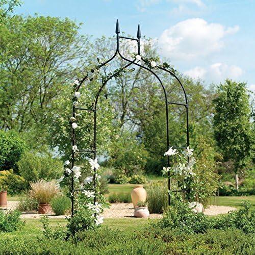 XXL Arco rosas Metal Spalier 295 cm recubierto - hermoso grande Ayuda posicionamiento de recubierto metal - gran Deco Jardín para Entrada: Amazon.es: Jardín