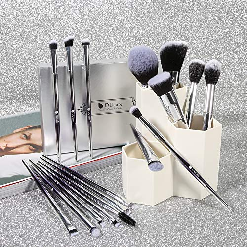 Buy silver makeup brushes
