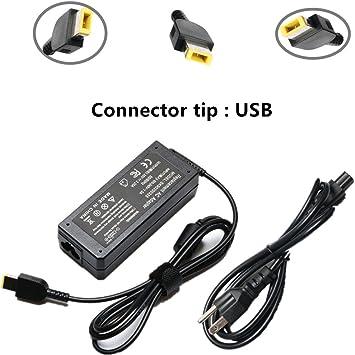 Amazon.com: 65W 20V 3.25A AC Adaptador de batería Cargador ...