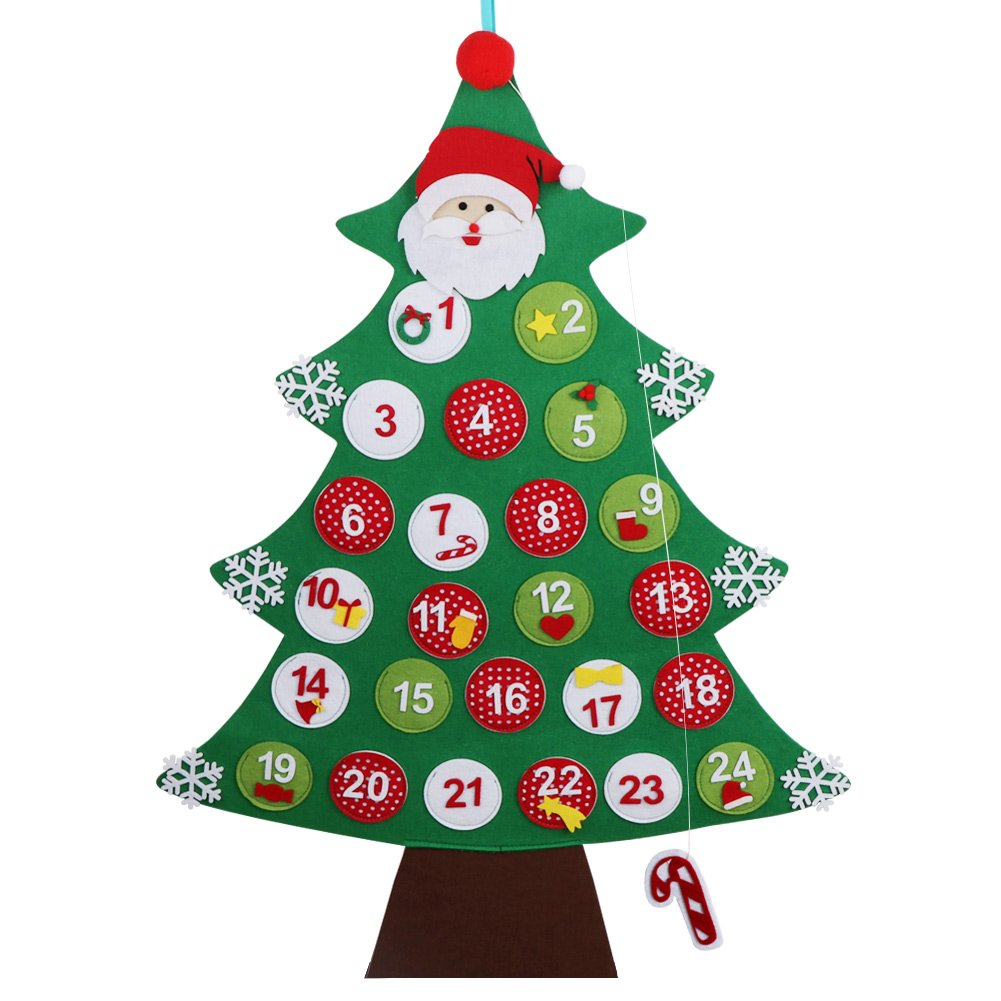 OurWarm Felt Christmas Tree Advent Calendar