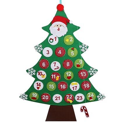 Regali Di Natale In Pannolenci.Ourwarm Feltro Albero Di Natale Calendario Dell Avvento Conto Alla