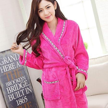 liuting Toalla de baño Pijama de algodón Albornoz de Alta absorción para Mujer con Capucha y Chal Toalla de baño Toalla-L_Pink: Amazon.es: Hogar