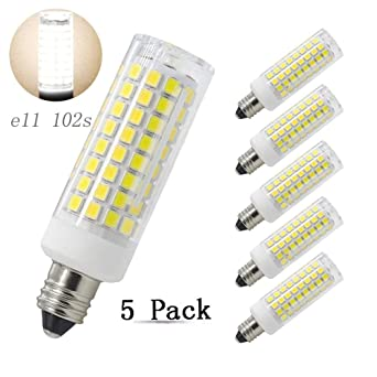 Bombilla LED E11, 8 W, 100 W, recambio de bombillas halógenas, 750 lúmenes, ...