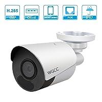 WGCC 4MP Poe IP Bullet Camera Super HD IR Day/Night Vision Deals