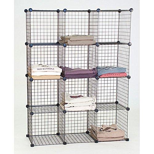 Count of 4 New Black Mini Gridwall Shelf unit 44''W x 14''D x 56''H