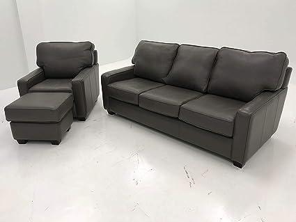Terrific Amazon Com Leather Sofa Chair Ottoman Granite Kitchen Beatyapartments Chair Design Images Beatyapartmentscom
