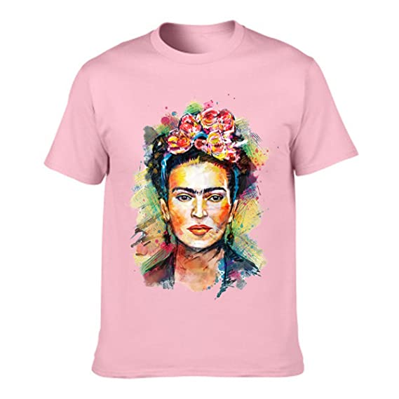 Jahurto Camiseta para Mujer de Manga Corta Artista Mexicana Frida Kahlo Personalizada: Amazon.es: Ropa y accesorios