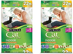 Purina Cat Chow Indoor Adult Dry Cat Food (2 Pack (Each 22 lbs.))