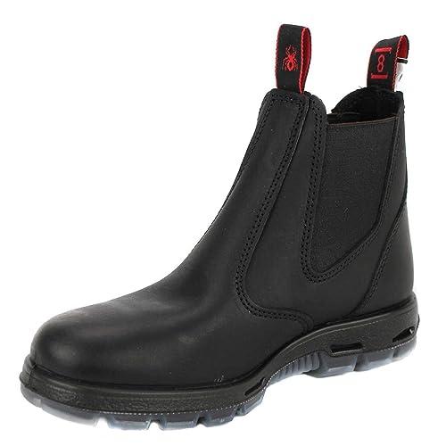 RedbacK Men's Bobcat UBBK Black Elastic Sided Soft Toe Leather Work Boot