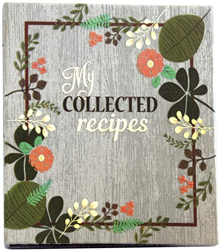 Meadowsweet Kitchens (Fabric Covered) Recipe Card Cookbook Binder, Vintage Flowers design