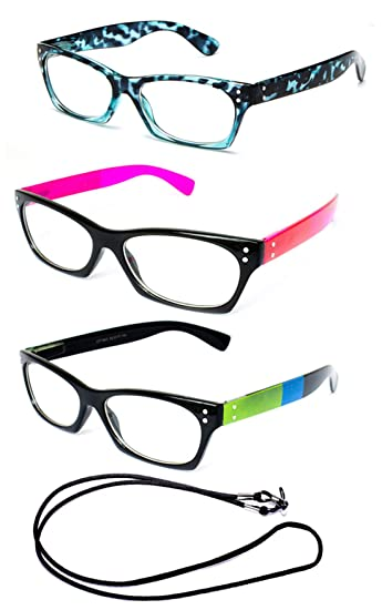 ecd96c3052c7 Image Unavailable. Image not available for. Color  Newbee Fashion-   quot Retro quot  Womens Full Thick Frame ...