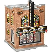 Department 56 Snow Village Harley-Davidson Lit Building