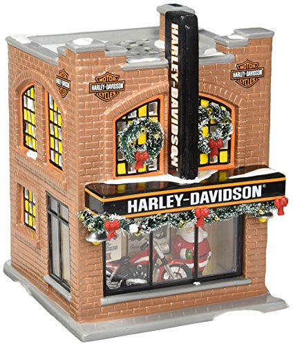 Department 56 Snow Village Harley-Davidson Lit Building