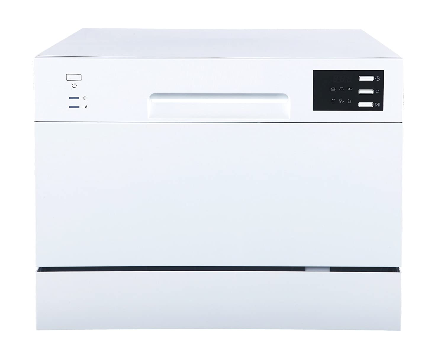 SPT SD-2225DW Countertop Dishwasher with Delay Start & LED, White, White Sunpentown