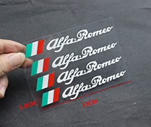 Alfa Romeo Car Door Sticker Decal Personality Side Skirt Decals Sticker Creative Decals Vinyl Sticker for Alfa Romeo and Any SUV,Truck or Sedan Car 1Sets (White)