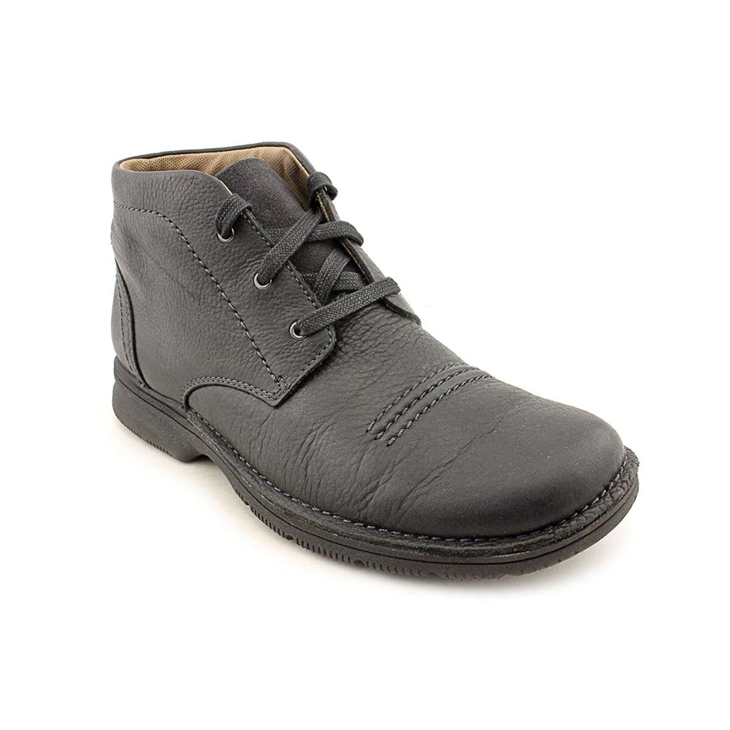Amazon.com | Clarks Men's Senner Drive Black Tumbled Boot 11.5 D - Medium |  Chukka