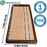 HL HEALTHYLINE - Far Infrared Amethyst Mat - 72inL x 24inW - Therapy Mat - Adjustable Temp - Auto Shut-Off - No EMF - (Soft and Flexible)