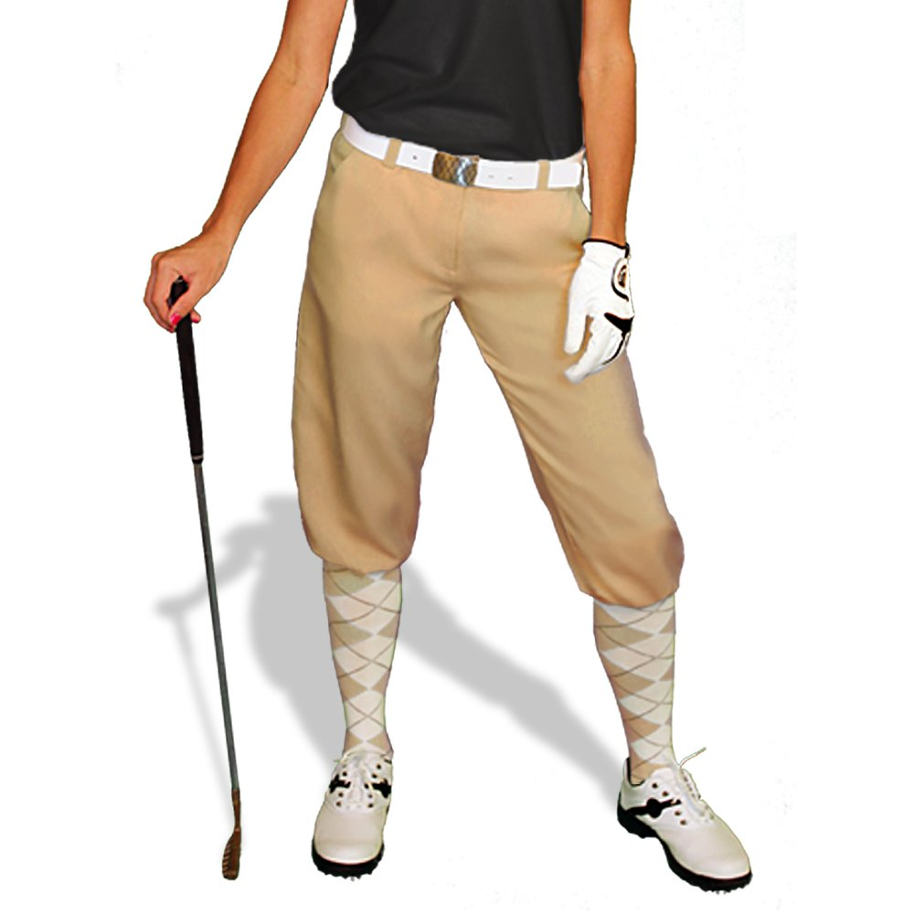 1920s Style Women's Pants, Trousers, Knickers, Tuxedo Khaki Golf Knickers: Womens Par 3 - Microfiber $69.95 AT vintagedancer.com