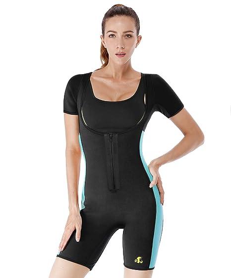 ef95c085977 DoLoveY Women Neoprene Full Body Shaper Weight Loss Sweat Sauna Suit Waist  Trainer Vest (Black