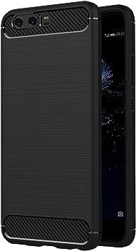 Negro Funda Silicona Huawei P10 Plus
