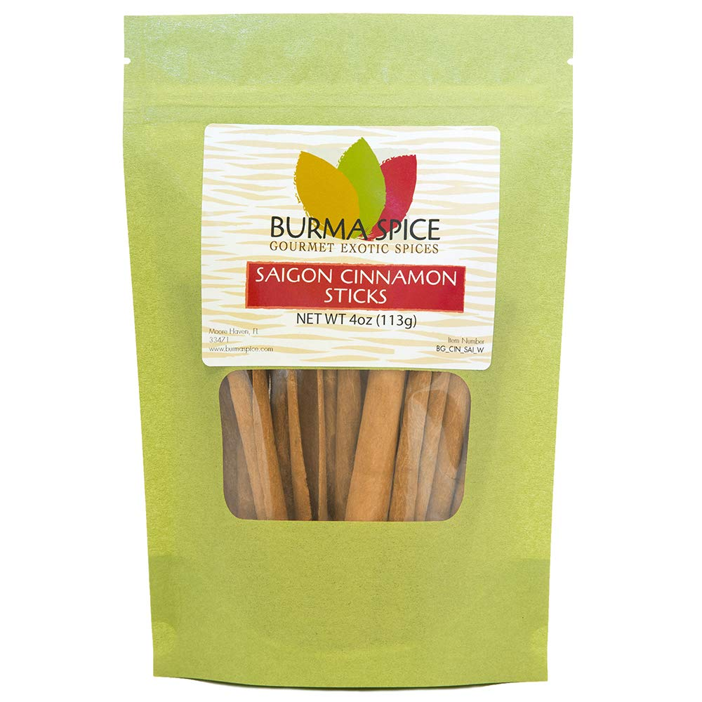 Saigon Cinnamon Sticks | Sweet Aromatic Spice | Perfect for Sweetening Desserts and Beverages 4oz.