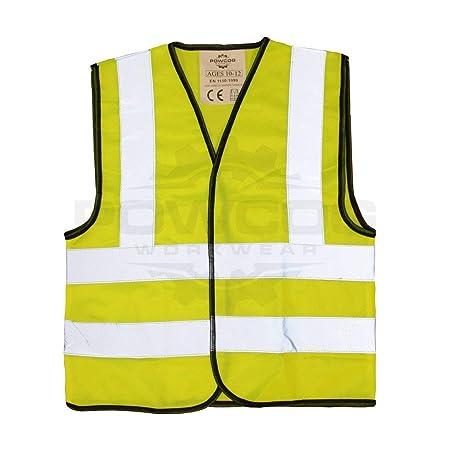 04d8d60e66c8 POWCOG® High Visibility Childrens Safety Waistcoat Vest Jackets ...