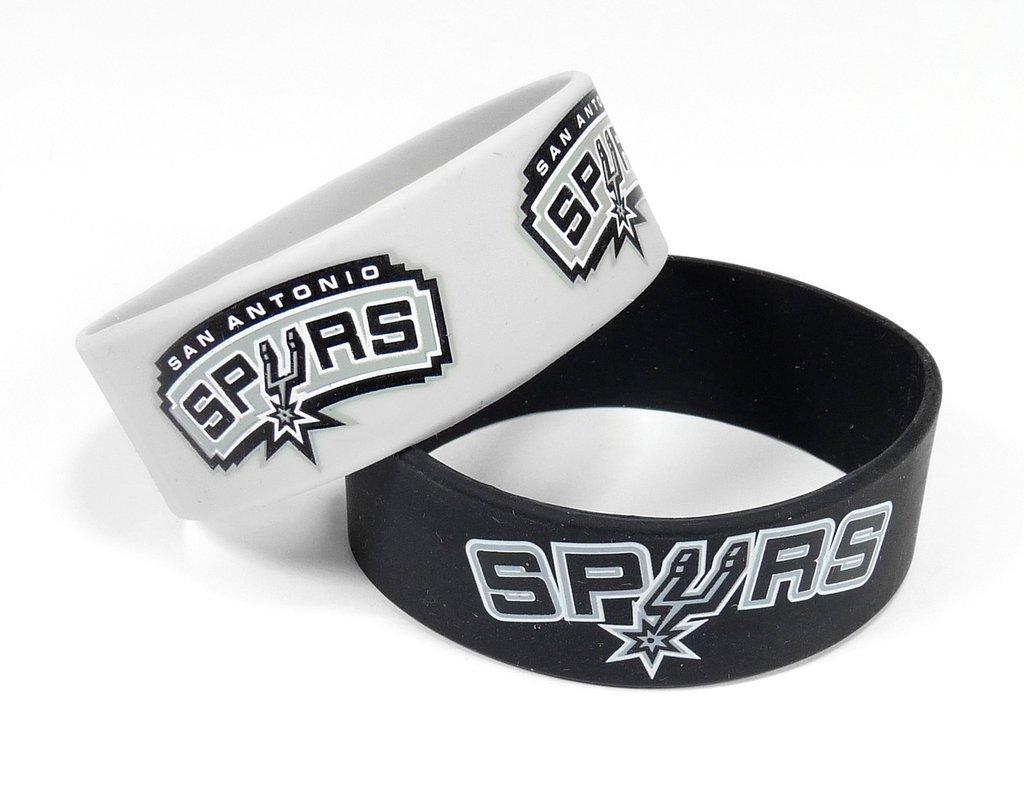 aminco NBA San Antonio Spurs Silicone Rubber Bracelet, 2-Pack