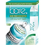 Baby Bottle - Bare Air-Free Feeding System For Gassy, Reflux Babies - With Easy-Latch Nipple - Best For Bottle-Fed Babies - Twin Pack 8oz. Bottles