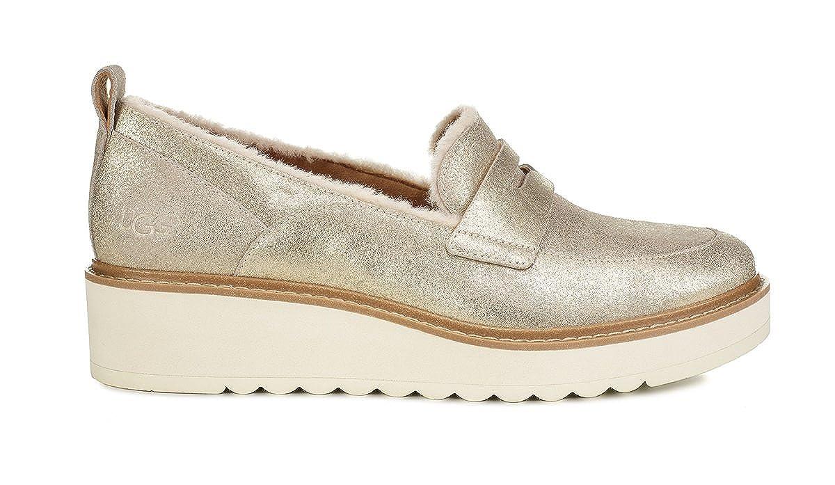 UGG - Atwater Mocasines, metálico Mujer, Dorado (Dorado), 37 EU: Amazon.es: Zapatos y complementos