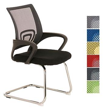 Konferenzstuhl grau  CLP Freischwinger-Stuhl mit Armlehne EUREKA, idealer Besucherstuhl ...