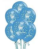 Palloncini Battesimo Azzurrro addobbi e decorazioni per feste party confezione 20 pz