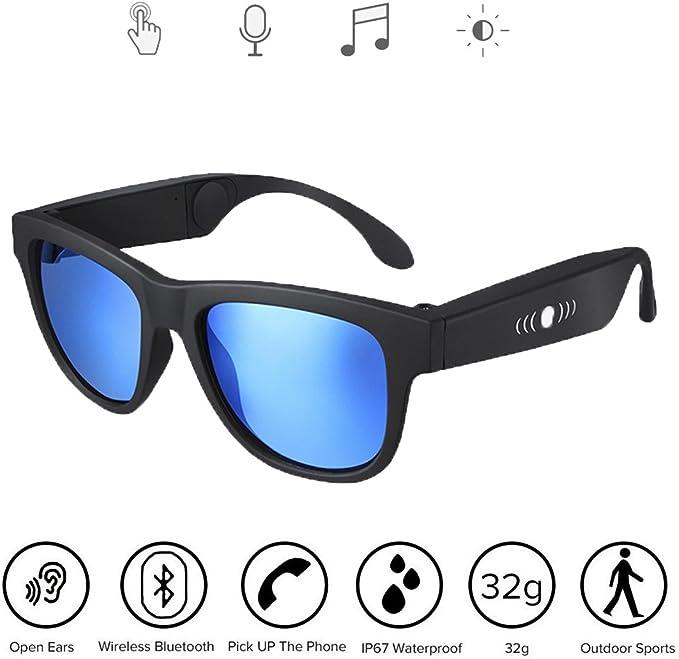 Music Bone Conduction Brille Open Ear Smart Brille IP67 Wasserdicht Sonnenbrille Wireless Bluetooth Audio M/änner Frau 197X81.5X67.5mm F/ür M/änner Frauen Outdoor Sport