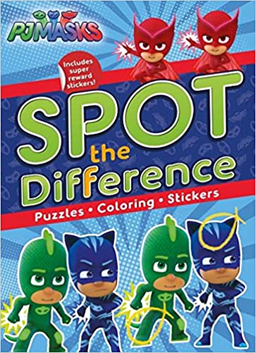 Amazon.com: Pj Masks Spot the Difference: Puzzles, Coloring, Stickers (9781527003095): Parragon Books Ltd: Books