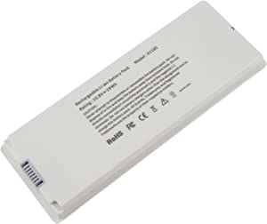 "Futurebatt 10.8V 59Wh Laptop Battery for Apple MacBook 13"" 13.3"" Inch A1181 A1185 MA561 MA566 MA561FE/A MA561G/A MA561J/A - White"