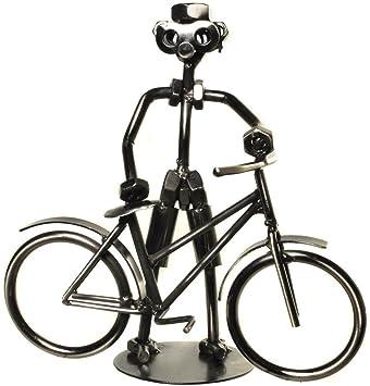 Deko Fahrrad Fahrradfahrer Schraubenmannchen Fahrrad Aus Metall Fur