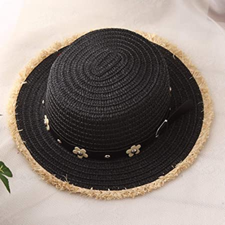 548756aeedf Amazon.com   DOMREO Straw Boater Hats for Summer Women Wide Brim Beach Sun  Hats with Tassels Adult Straw Hats   Sports   Outdoors