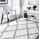 nuLOOM Cozy Soft and Plush Diamond Trellis Shag Area Rug, 8' x 10'
