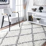 nuLOOM Cozy Soft and Plush Diamond Trellis Shag Area Rug, 8' x 10'