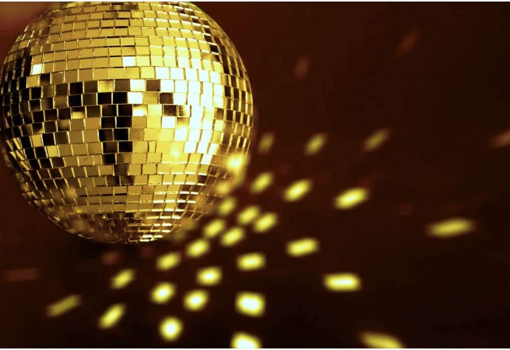 Leyiyi Virtual Halo Defocus Sparkling Golden Sequines Backdrop 15x10ft Photography Backdrop Nightclub 70s 80s 90s Sense of Age Theme Bar Pub Disco Dance Hall Backdrop Photo Booth Props