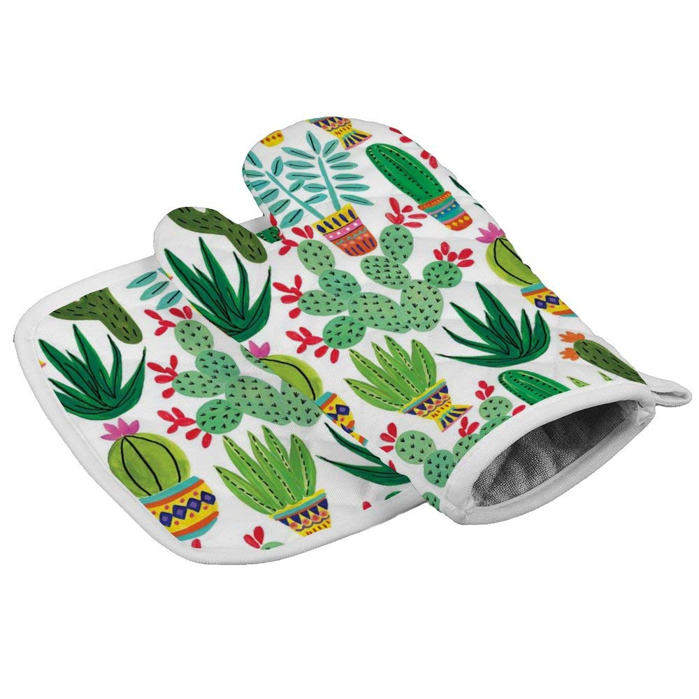 LELEMATE Oven Mitt & Pot Holders, Kitchen Oven Gloves,Hot Pan Mat Pads Set for Cooking Grilling Barbecue Baking, Heat Resistant, Set of 2, Sedona